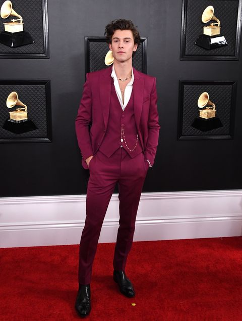 Shawn Mendes tijdens Grammy Awards