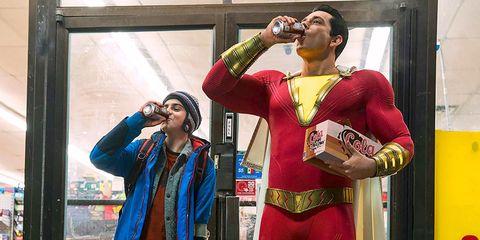 shazam dc comics comedia batman superman wonder woman aquaman