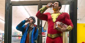 shazam dc comics comedia batman superman wonder woman aquaman