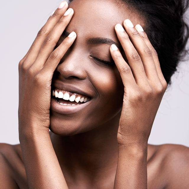 black woman with smooth skin