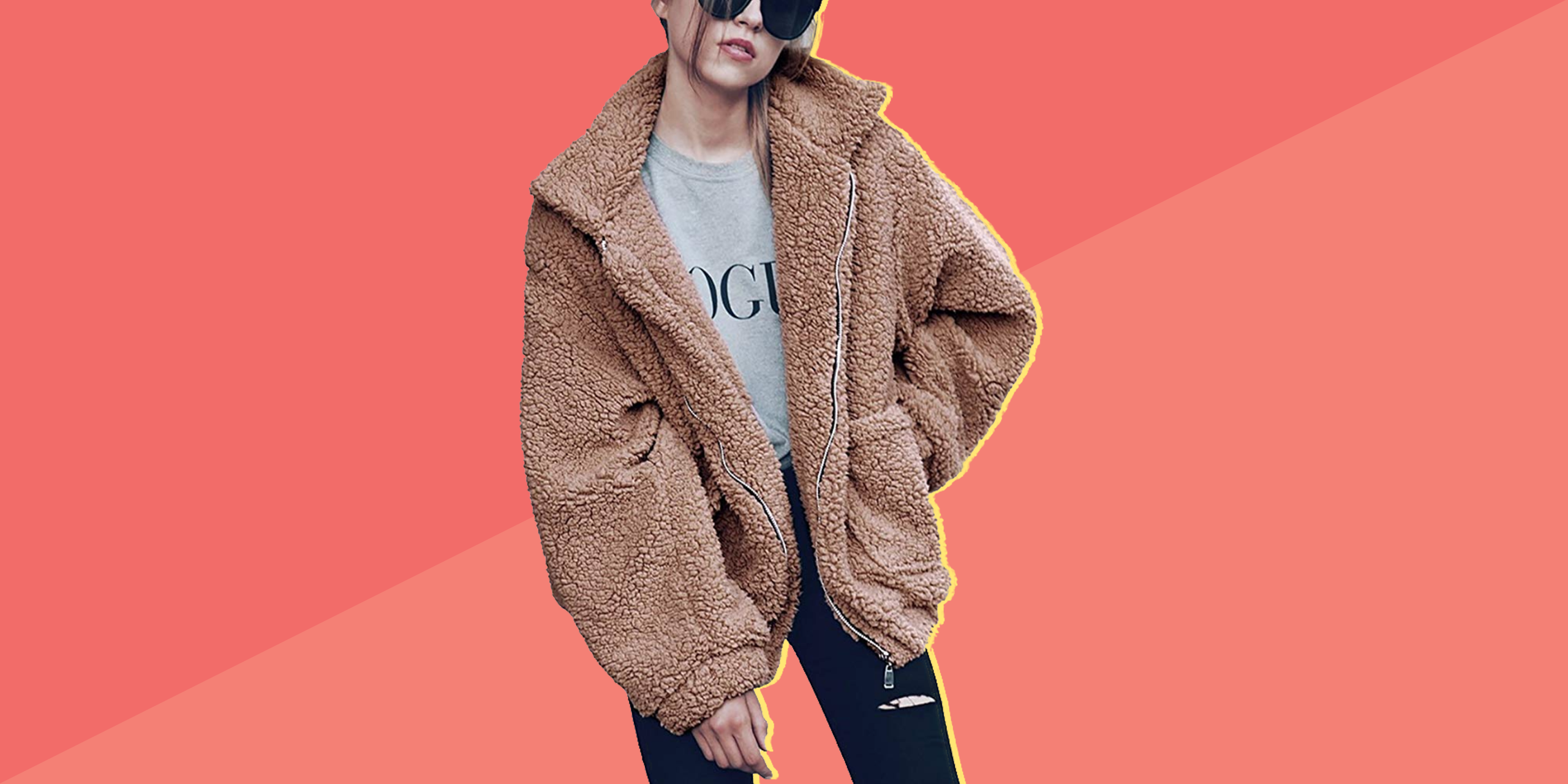 This Bestselling Faux Shearling Amazon Coat Is Finally Back in Stock for Just $32