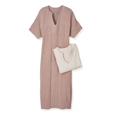 Clothing, White, Product, Pink, Dress, Sleeve, Beige, Robe, Brown, Outerwear,
