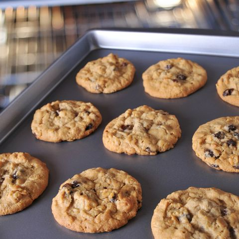Fresh Warm Cookies Coming out of the Oven