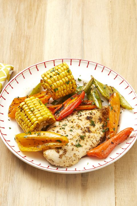 sheet pan cajun chicken and corn