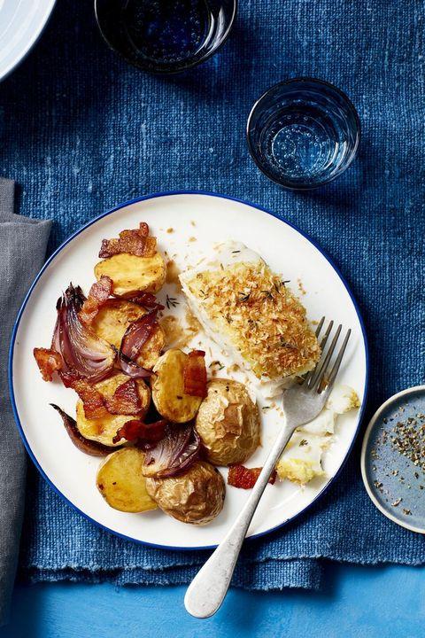 sheet pan dinners fish chowder bake