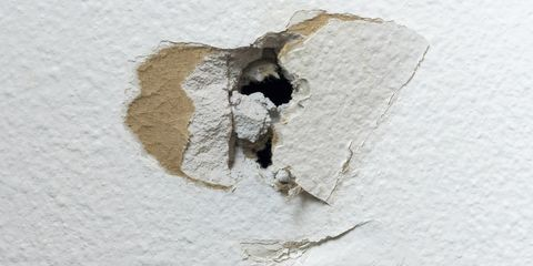 Sheetrock Home DIY Project Hole in White Drywall