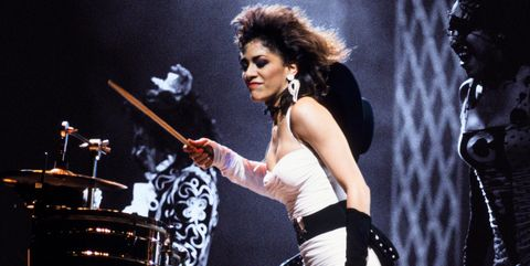 Percussionist Sheila E performing on stage