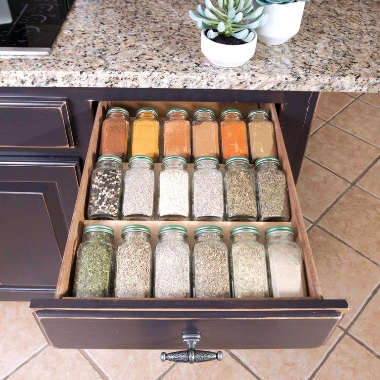 طريقة تقسيم أدراج المطبخ - منظم التوابل