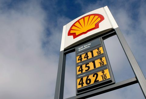 san mateo, ca   march 13  gas prices over $400 per gallon are displayed at a shell station march 13, 2008 in san mateo, california the price of oil reached a record high of $111 a barrel and retail gas prices were up 21 cents overnight to reach a national average of $3267 a gallon, a new us record photo by justin sullivangetty images
