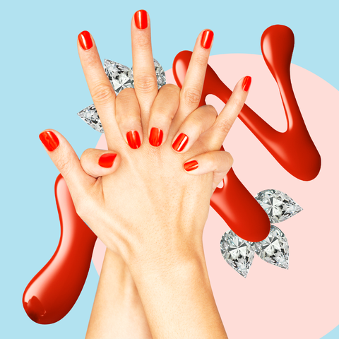 finger, nail, hand, red, gesture, manicure, nail care, flesh, illustration, thumb,