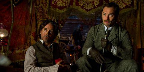 Robert Downey Jr Jude Law Sherlock Holmes