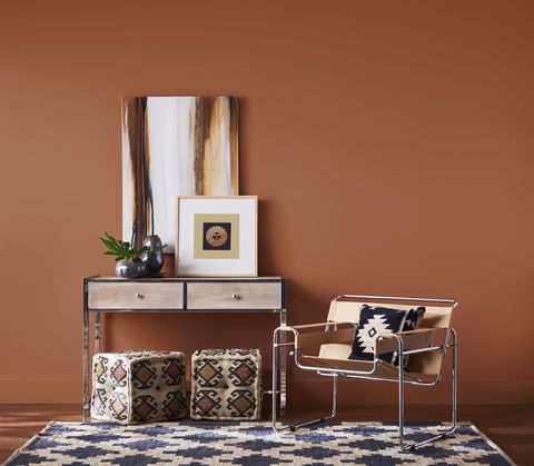 Brown Leather Couch Living Room Color Schemes Gray Walls