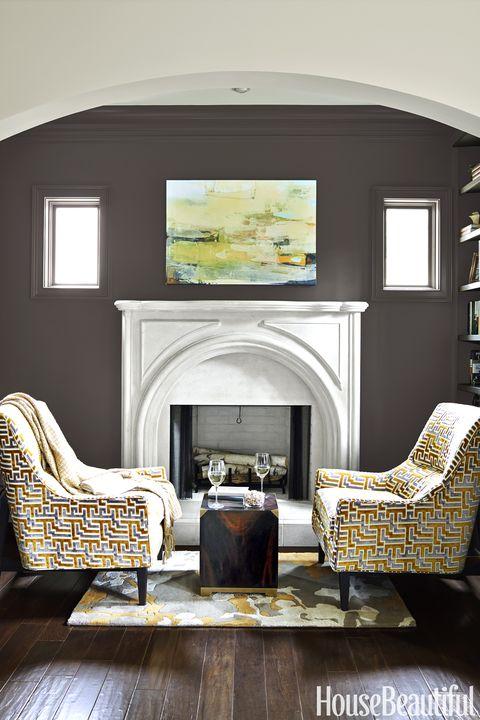 Kristin Kong Brown Living Room
