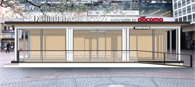 東京,渋谷駅ハチ公前広場,「青ガエル」の跡地,新観光案内所,shibu hachi box,