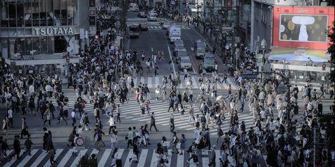 Human settlement, City, Crowd, Metropolitan area, Metropolis, Infrastructure, Pedestrian, Architecture, Street, Building,