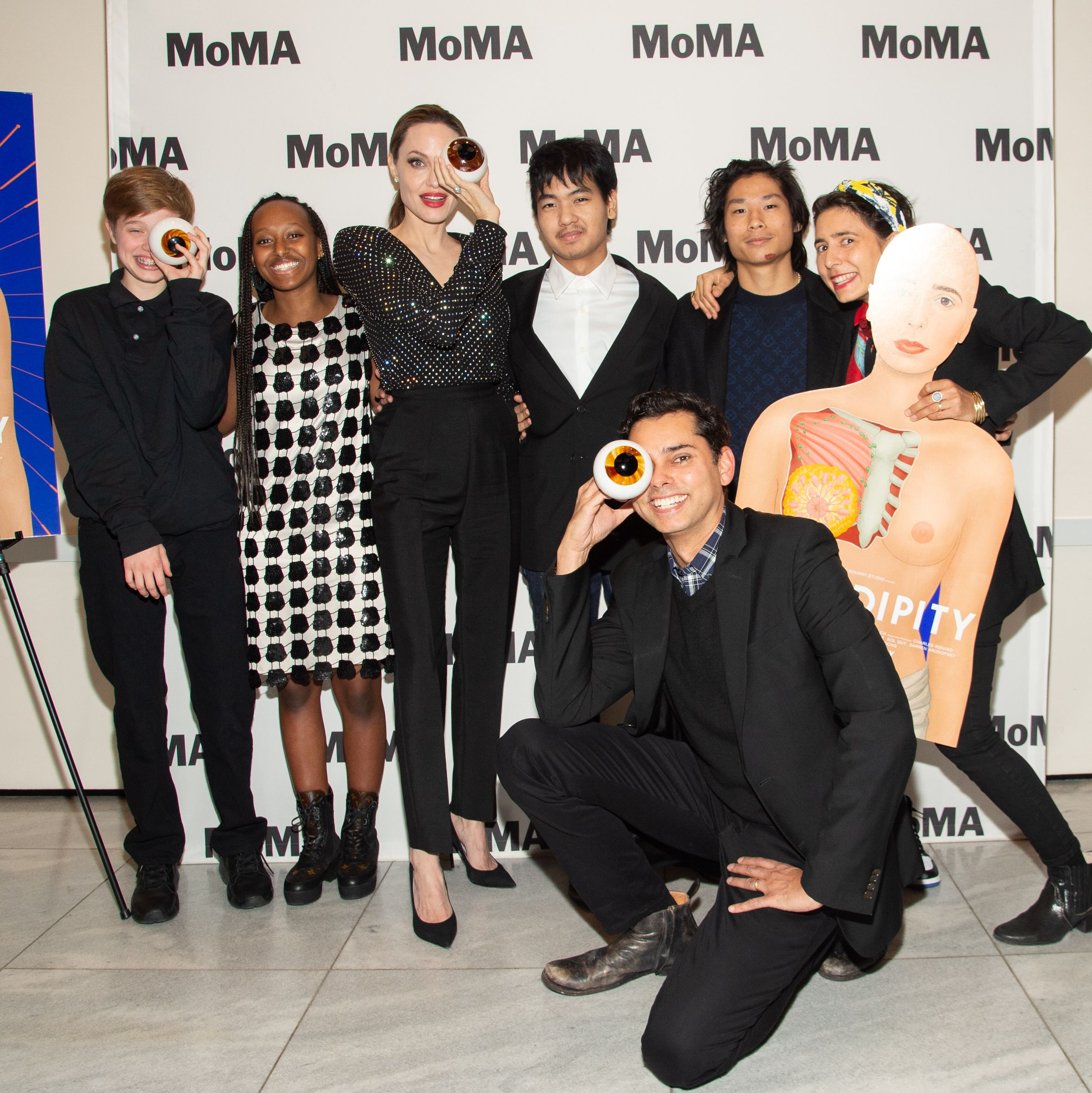 Angelina Jolie Took Maddox, Pax, Zahara, and Shiloh Jolie-Pitt Out to a Rare Red Carpet Event