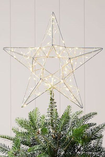 led shining star christmas tree topper