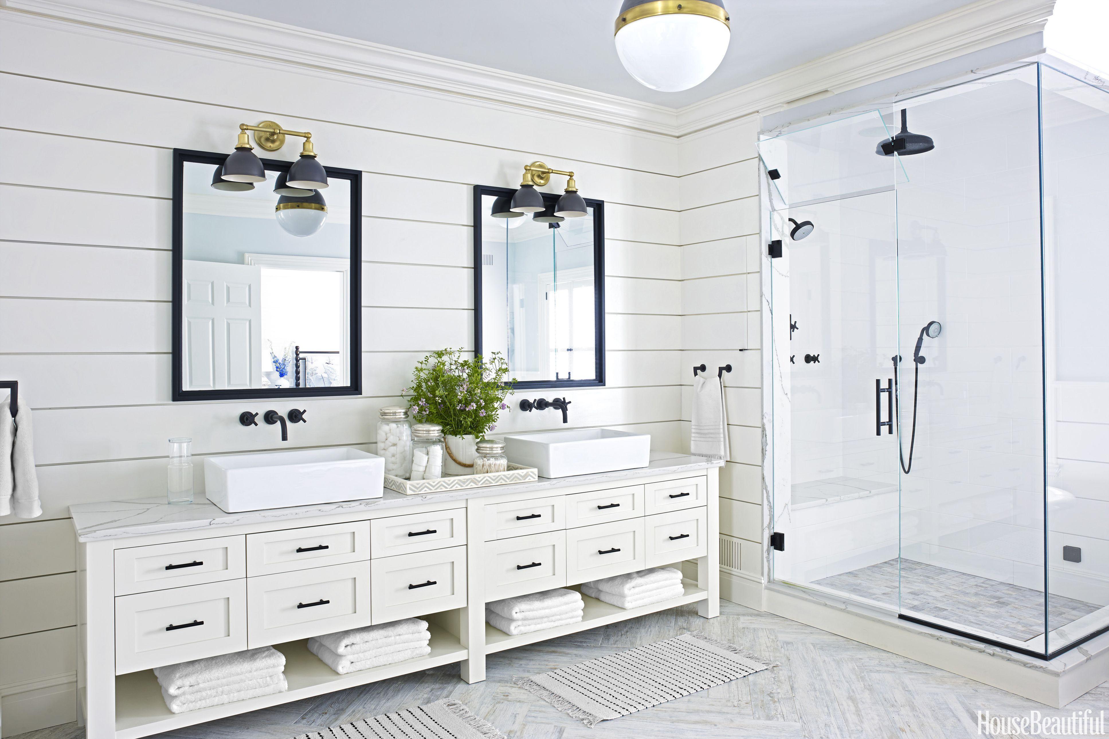 15 black and white bathroom ideas black white tile designs we love rh housebeautiful com white bathroom designs 2018 white bathroom design images