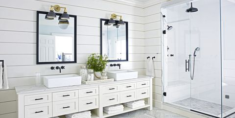 15 Black and White Bathroom Ideas - Black & White Tile Designs We on white tile shower ideas, white bathroom interior designs, white bathroom tile glass, transitional bathroom tile designs, white marble tile bathroom, white marble shower designs, white tub tiles, small bathroom shower designs, white bathroom with walk-in shower, white bathroom vanity designs, white bathroom tile floor, white bathroom tile colors, white porcelain shower designs, white shower patterns, white ceramic tile shower,