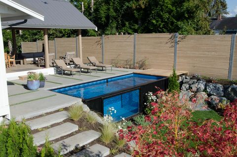 shipping container swimming pool - 18 Best Swimming Pool Designs - Unique Swimming Pool Design Ideas