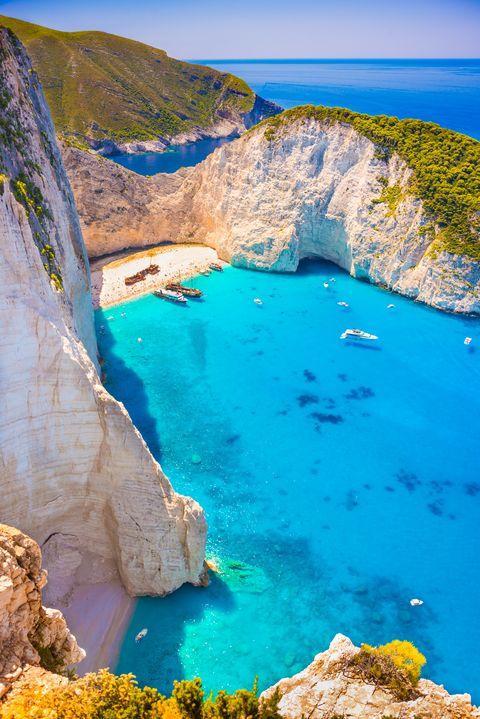 shipwreck beach op zakynthos, griekenland