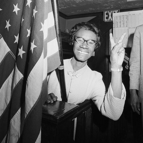 Shirley Chisholm Giving Victory Sign