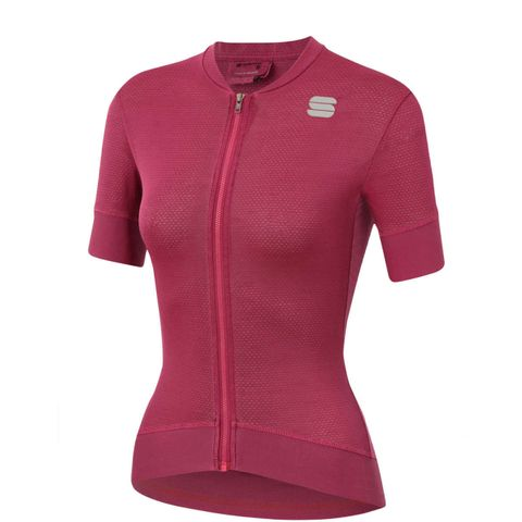 sportful dames korte mouwen fietsshirt shirt wielrennen roze