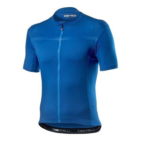 castelli fietsshirt shirt wielrennen korte mouwen blauw