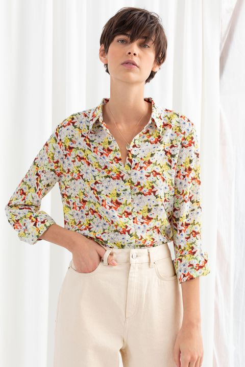 & other stories sale: floral print shirt