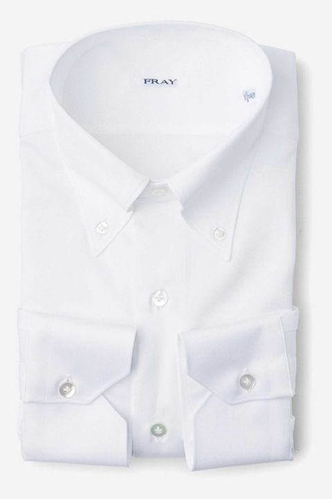 White, Collar, Clothing, Dress shirt, Shirt, Button, Sleeve, Outerwear, Fashion accessory, Formal wear,
