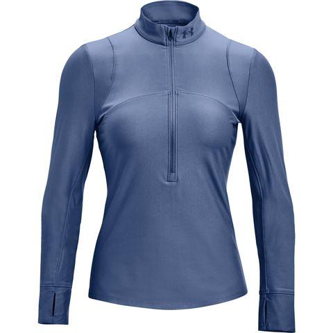 half zip under armour top longsleeve blauw