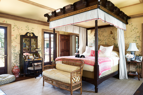 shiverick palm beach bedroom wallpaper veranda