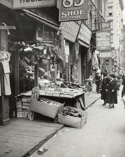 Shoe and Various Stores on Early Harlem Street