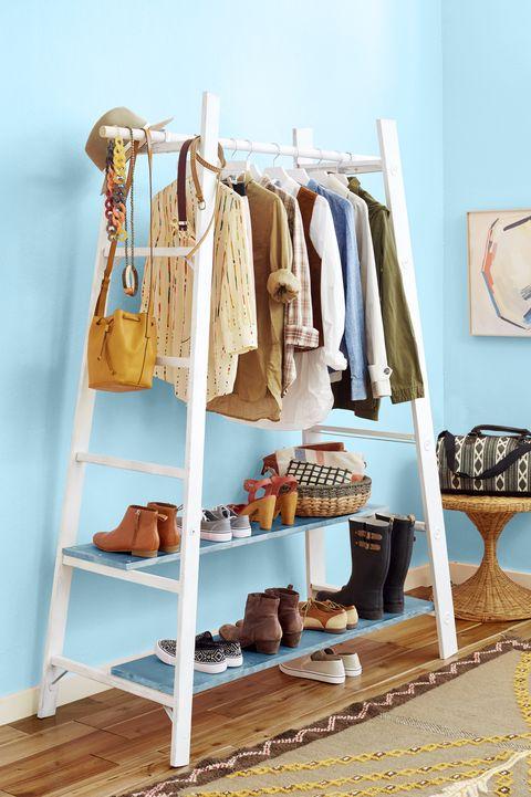 shoe organizer ideas - ladders