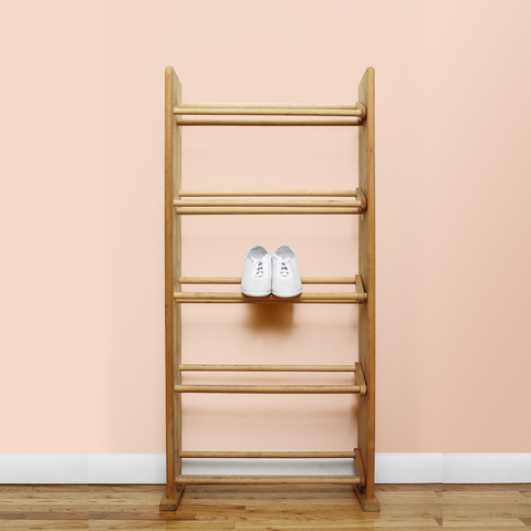 Pair of shoes on shoerack