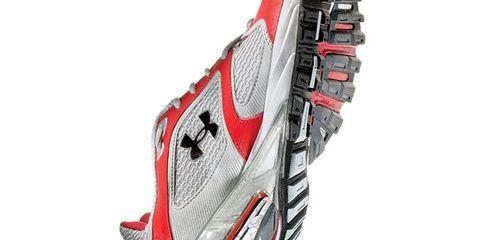 Shoe, Carmine, Maroon, Sports gear, Synthetic rubber, Outdoor shoe, Walking shoe, Graphics,