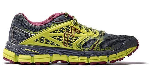 Footwear, Product, Yellow, Shoe, Athletic shoe, Sportswear, Sneakers, Magenta, Carmine, Logo,