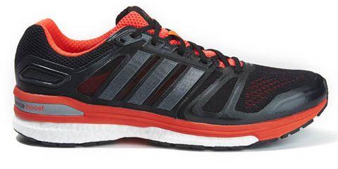 Footwear, Shoe, Product, Sportswear, Athletic shoe, Red, White, Orange, Sneakers, Line,