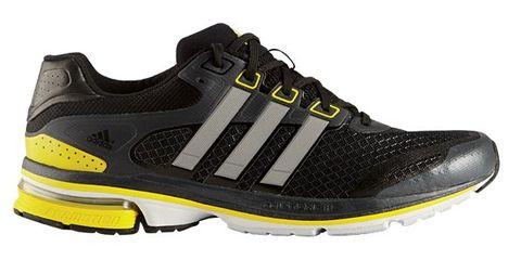 Footwear, Product, Shoe, Yellow, Sportswear, Athletic shoe, White, Line, Sneakers, Orange,