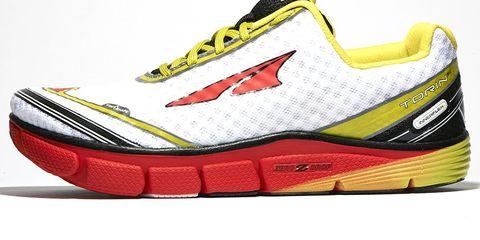 Footwear, Product, Yellow, White, Red, Sportswear, Line, Orange, Athletic shoe, Logo,