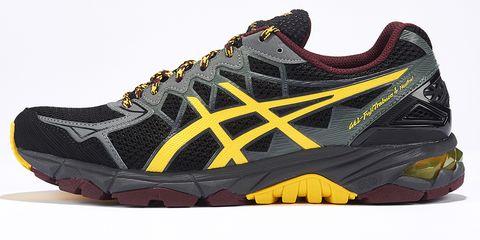 Footwear, Product, Shoe, Yellow, Brown, Sportswear, Athletic shoe, White, Orange, Style,