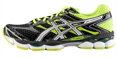 Footwear, Product, Yellow, Shoe, Sportswear, Athletic shoe, White, Running shoe, Line, Sneakers,