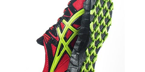 Pattern, Synthetic rubber, Carmine, Grey, Outdoor shoe, Walking shoe, Running shoe,
