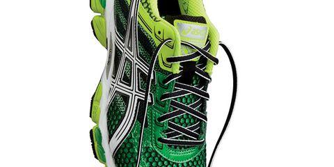 Footwear, Green, Shoe, Running shoe, Athletic shoe, Sportswear, Line, Font, Carmine, Sneakers,