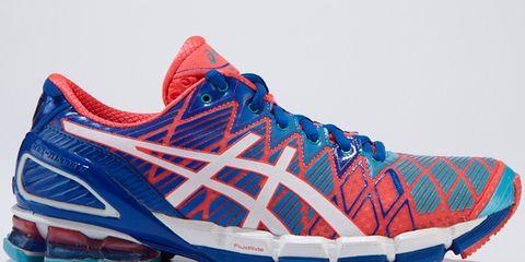 Footwear, Blue, Shoe, Product, Sportswear, Athletic shoe, White, Red, Orange, Sneakers,
