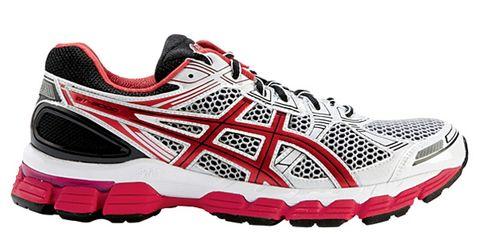 Footwear, Product, Athletic shoe, Sportswear, Shoe, White, Red, Logo, Sneakers, Light,