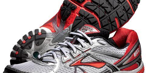 Footwear, Product, Athletic shoe, Red, Pattern, White, Sportswear, Running shoe, Orange, Sneakers,
