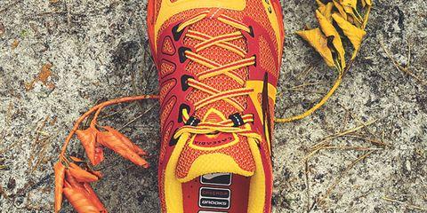 Yellow, Orange, Athletic shoe, Amber, Carmine, Tan, Walking shoe, Outdoor shoe, Running shoe, Tennis shoe,