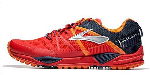 Footwear, Product, Shoe, Sportswear, Athletic shoe, Orange, Red, White, Sneakers, Logo,