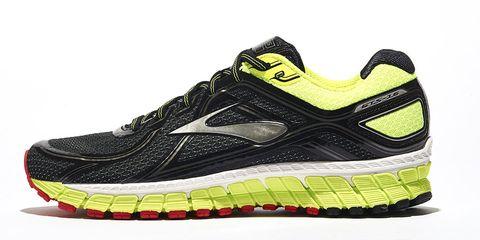 Footwear, Product, Shoe, Yellow, Sportswear, Athletic shoe, White, Line, Sneakers, Logo,